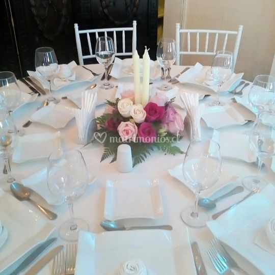 Centro de mesa invitados
