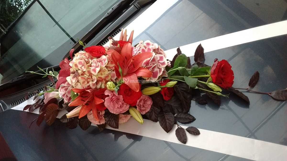 Arreglo Auto Flores Naturales De Las Cosas Bellas Fotos