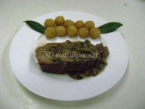Plato con carne