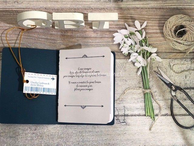 Parte de matrimonio pasaporte