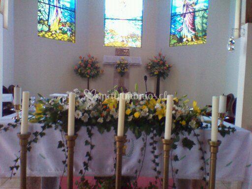 Un altar colorido