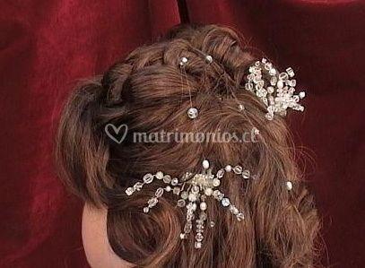 Peinado de perlas