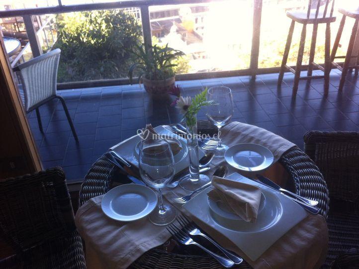 Mesa y terraza