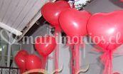 Globos corazon rojos de Globos Mónica