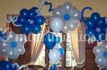 Flores de globos en tonos azules
