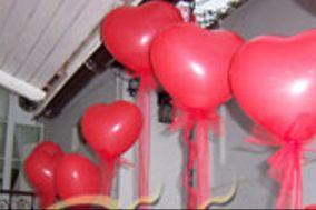 Globos corazon rojos