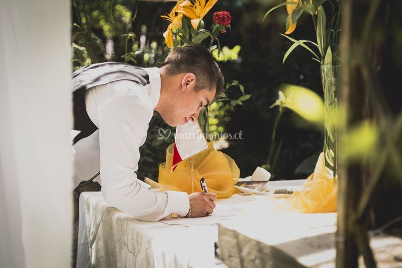 La firma del novio