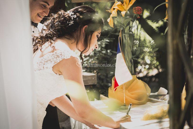 La firma de la novia