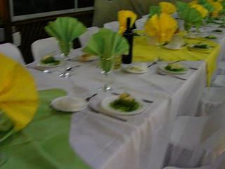 Montaje de un banquete