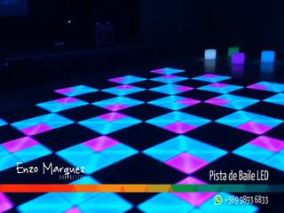 Pista LED de Baile, iluminación, ritmo y color