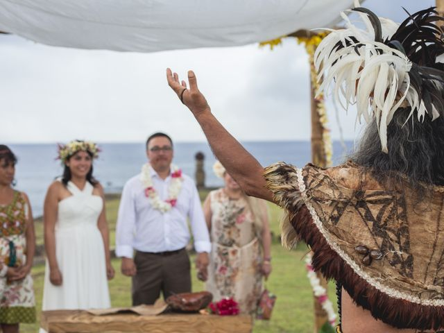 Matrimonio Simbolico En Isla De Pascua : El matrimonio de luis y gianina en isla pascua