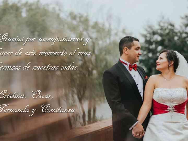 El matrimonio de Cristina y Oscar