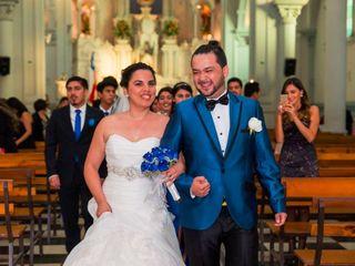 El matrimonio de Geraldine y Mario