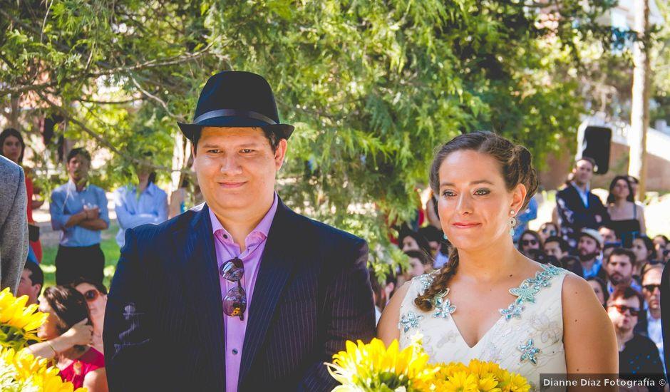 El matrimonio de Benjamín y Paloma en El Monte, Talagante