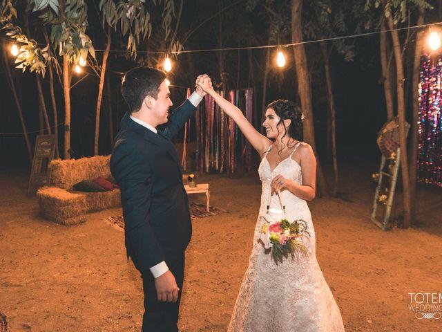 El matrimonio de Francisco  y Karime  en El Monte, Talagante 126
