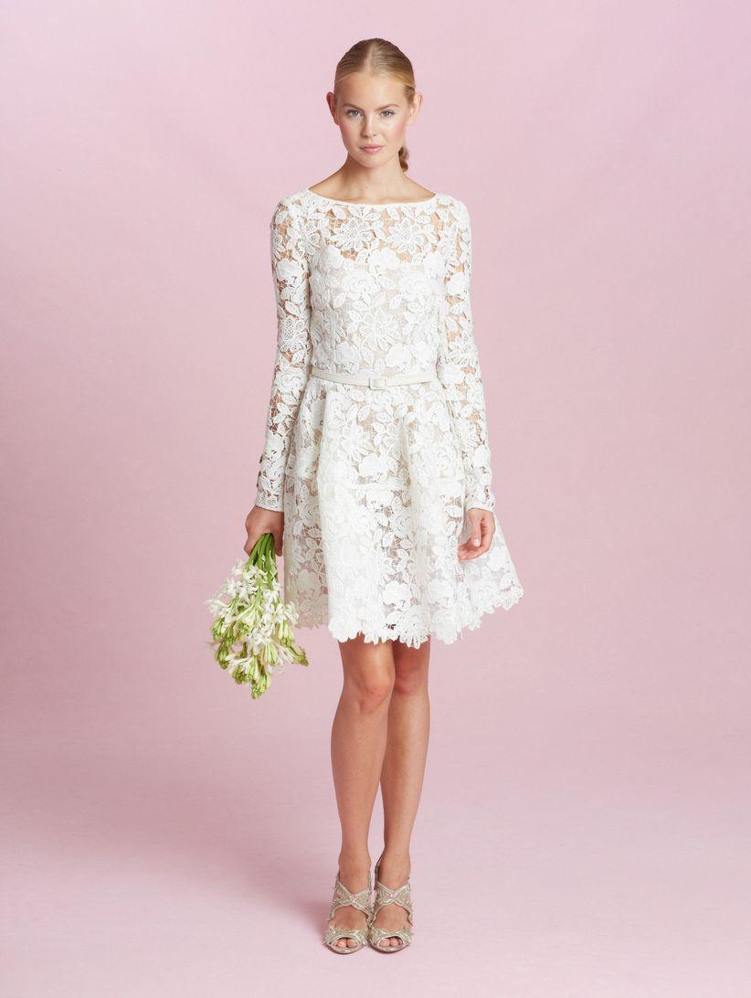 Vestidos de novia cortos para una boda civil