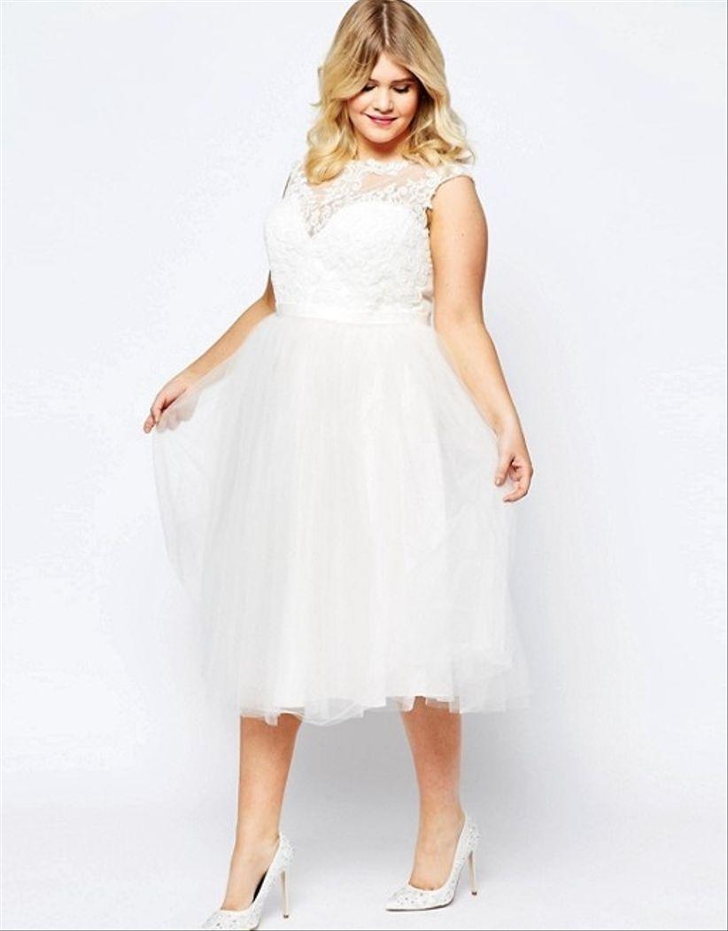 11a4b47e78 40 vestidos de novia cortos  cómodos y sensuales
