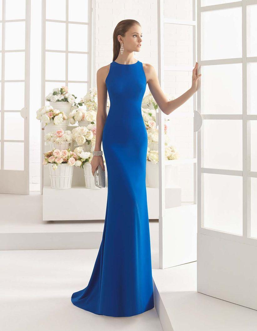 Vestidos largos de color azul rey