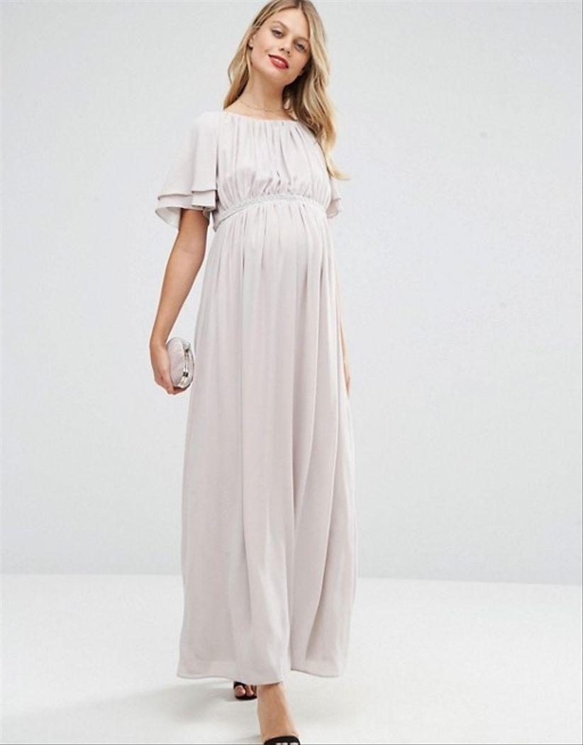 e918ee22d Vestidos de fiesta premamá para lucir radiante y cómoda