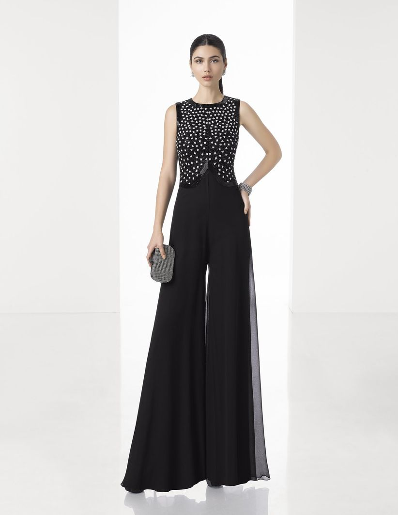 Vestido negro para matrimonio