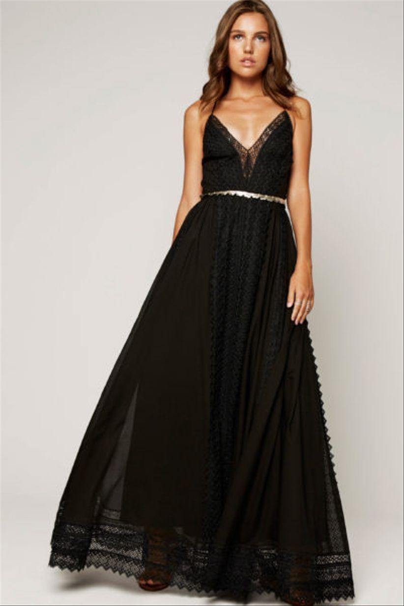 0fff6b7d2 30 vestidos de fiesta negros  un clásico que se renueva