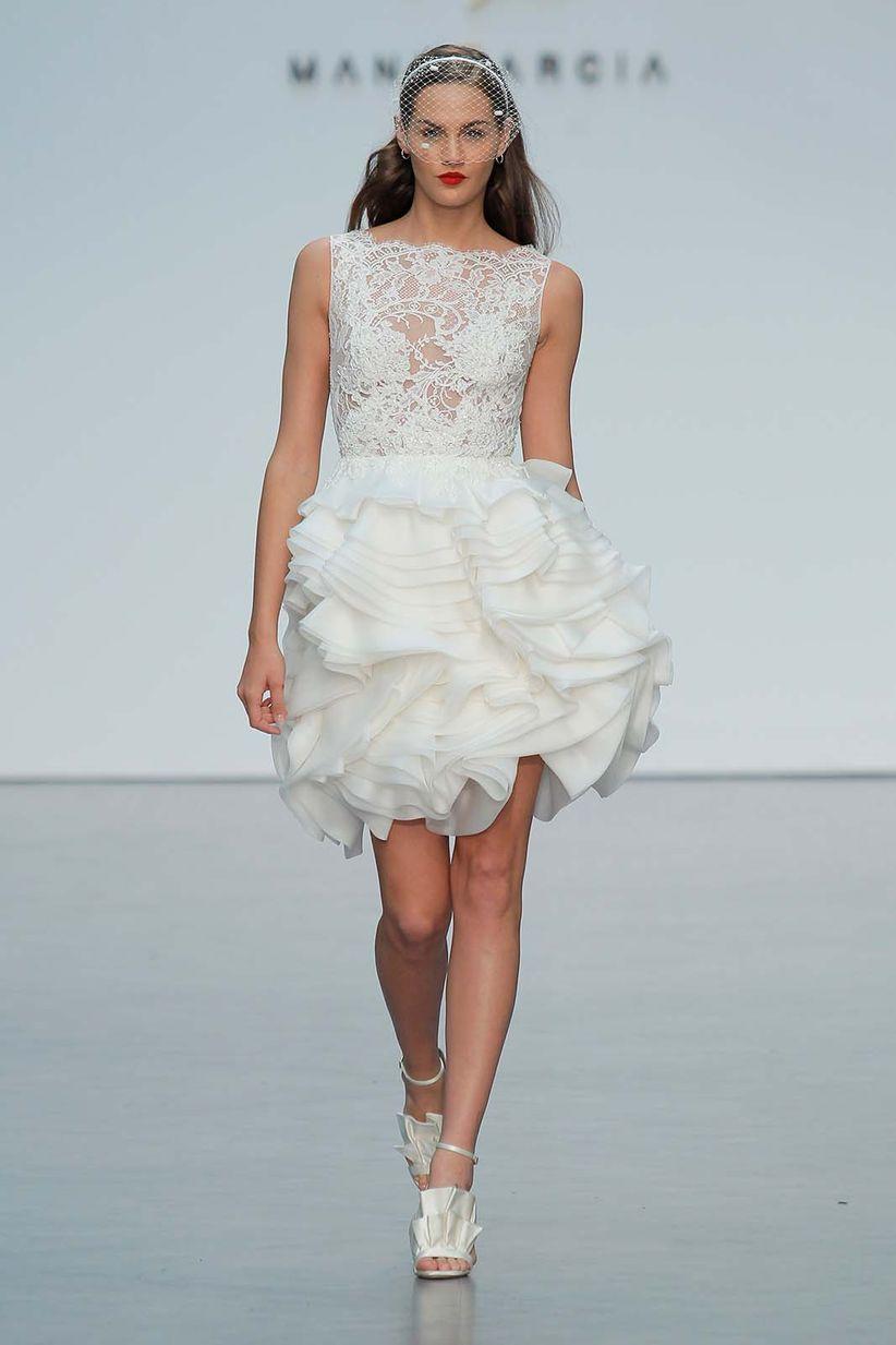 40 vestidos de novia cortos: cómodos y sensuales