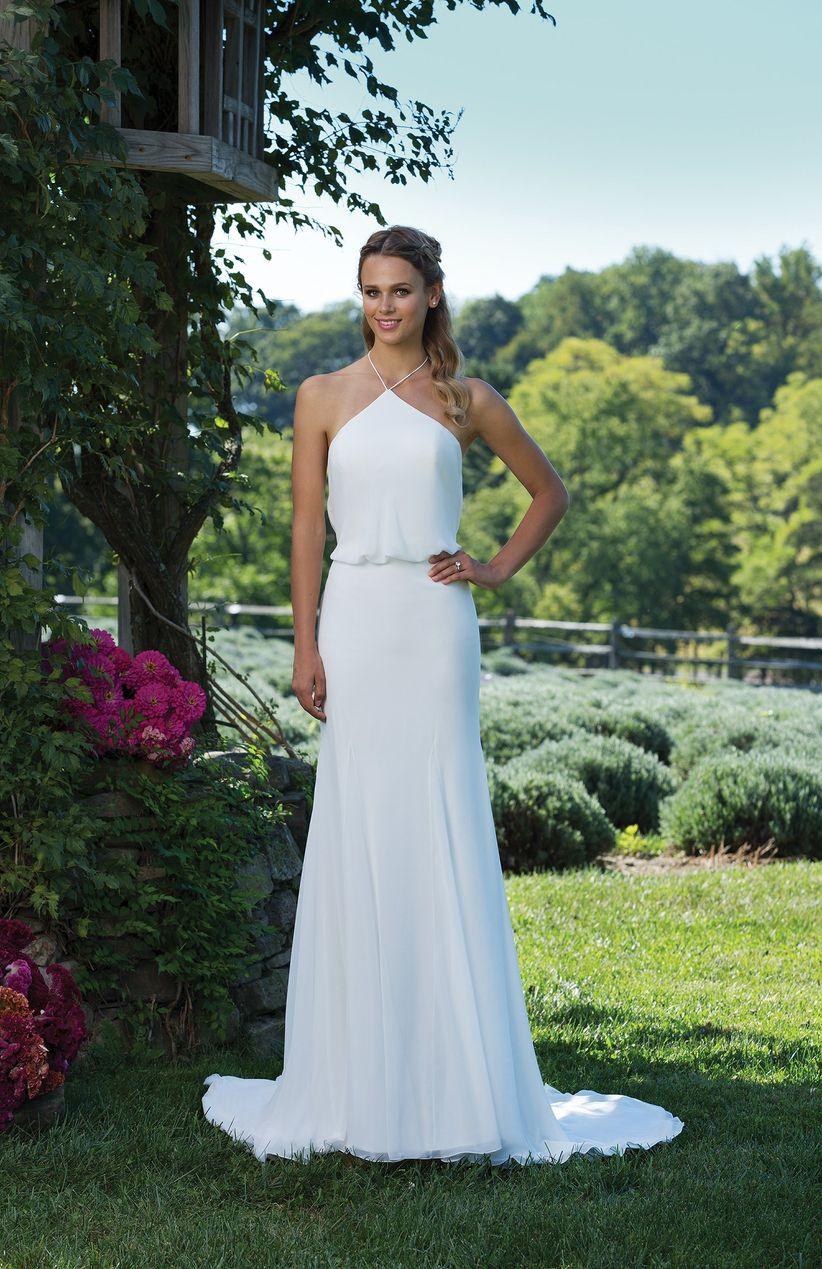 3945ef7bf6 50 vestidos de novia sencillos para deslumbrar en tu gran día
