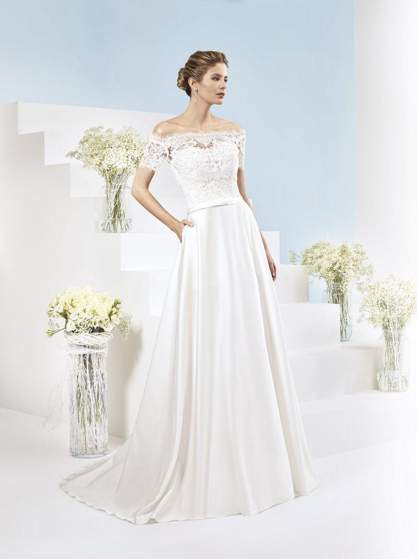 Vestido de novia hecho con cascara