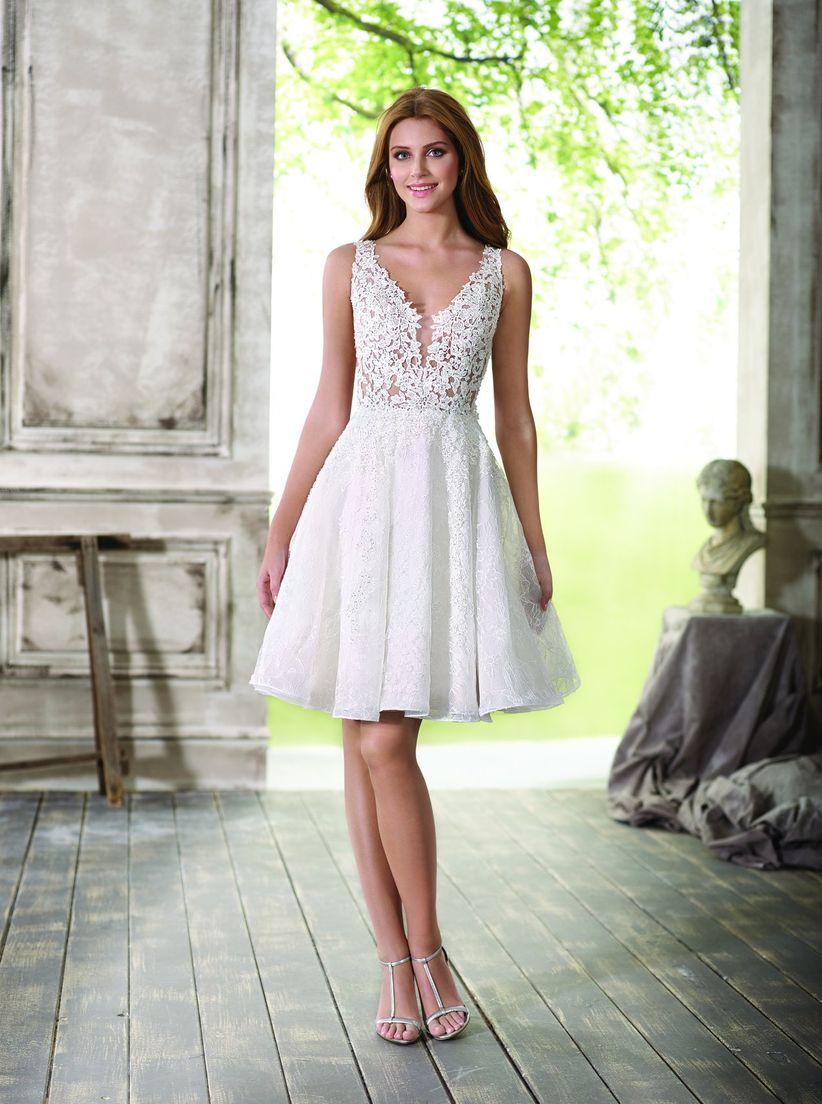 Fotos de vestidos de novia cortos y sencillos