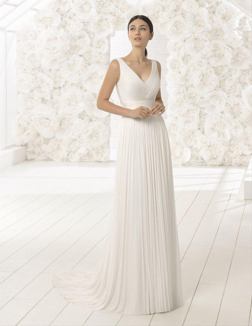 25 vestidos de novia con corte imperio: aires románticos y clásicos