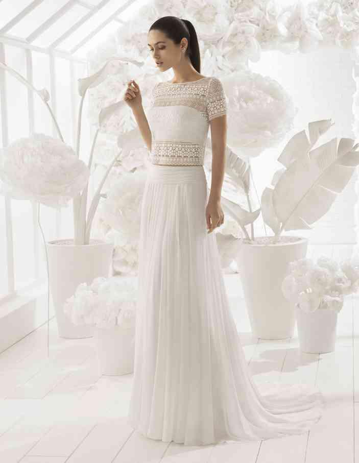 especial para zapato mejor mayorista diseñador de moda 65 Vestidos de novia de dos piezas: ¡Encuentra tu perfect match!