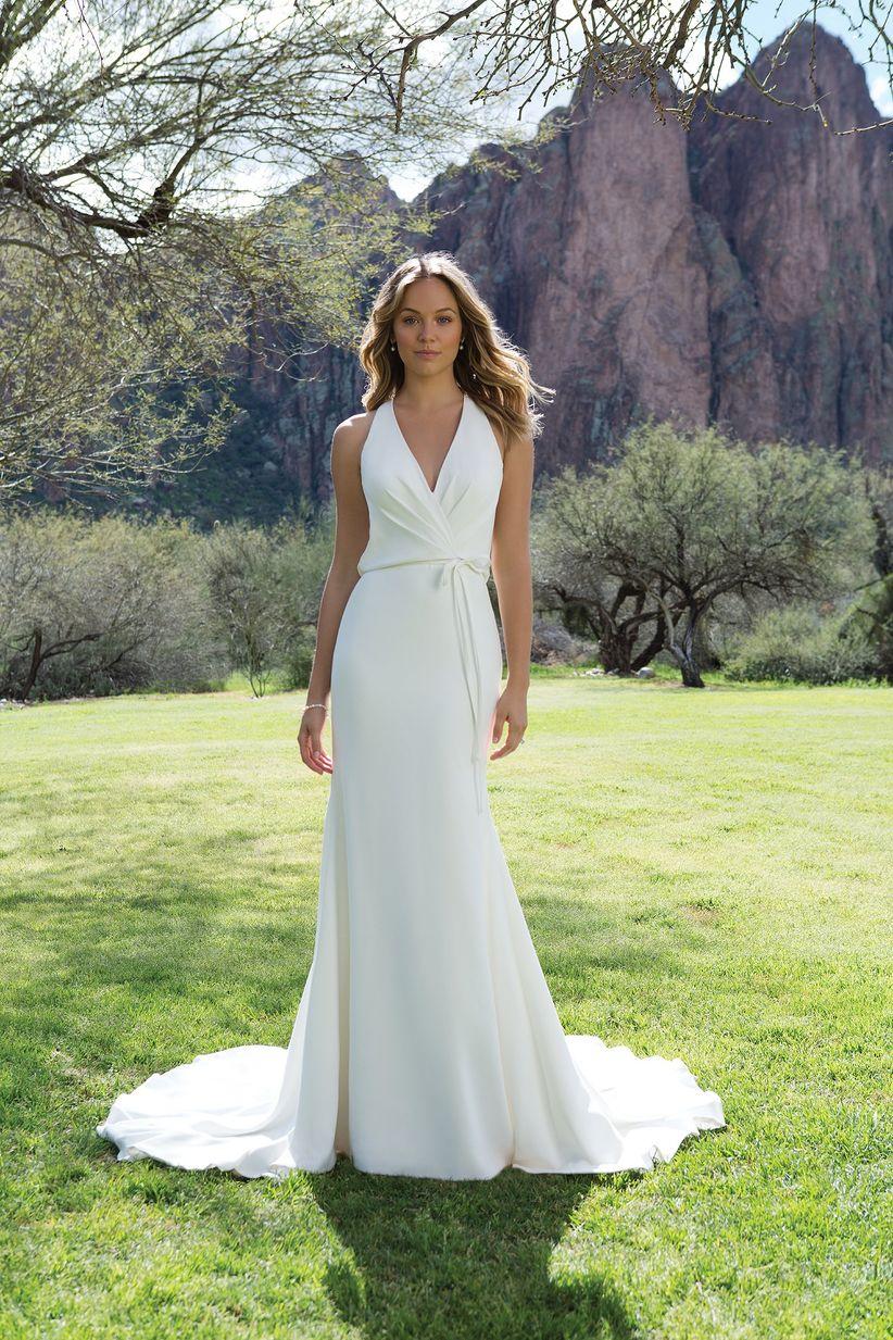 fbb068dce 50 vestidos de novia sencillos para deslumbrar en tu gran día