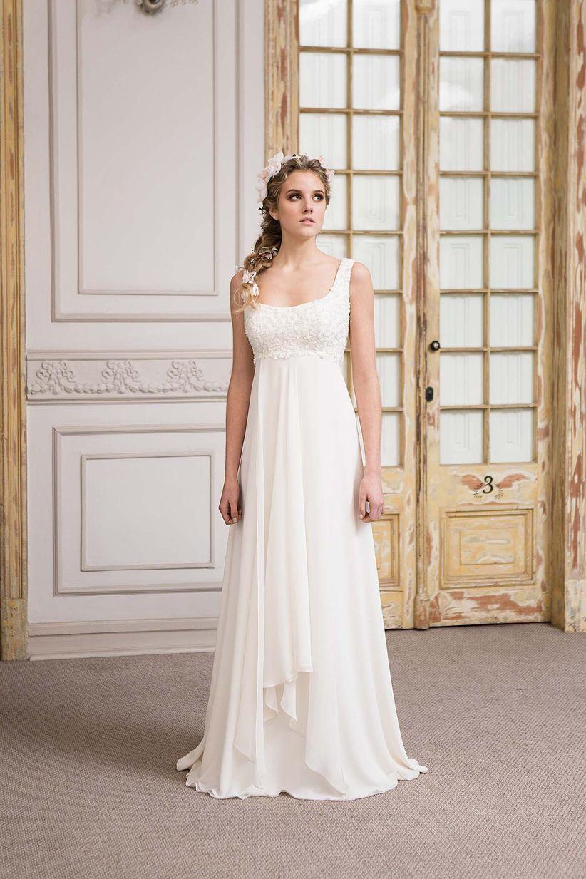 8bfdc5734 25 vestidos de novia con corte imperio  aires románticos y clásicos