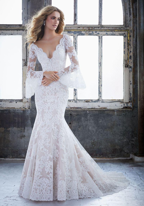 d0287ab5e4 110 vestidos de novia con encaje que te enamorarán