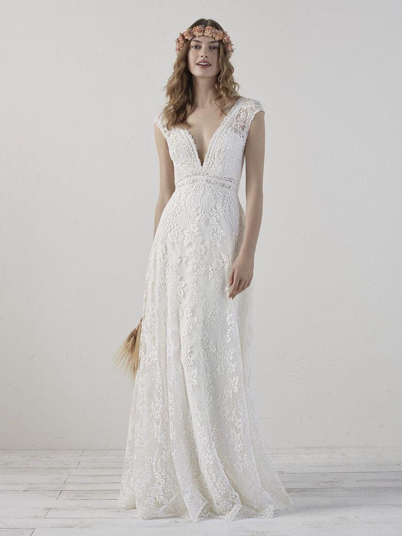 Vestido novia sencillo boda civil