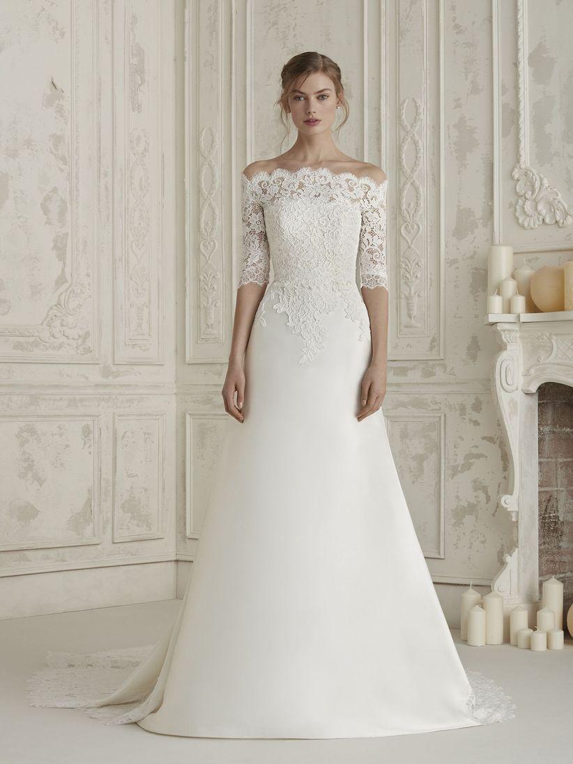 c62e289c 110 vestidos de novia con encaje que te enamorarán