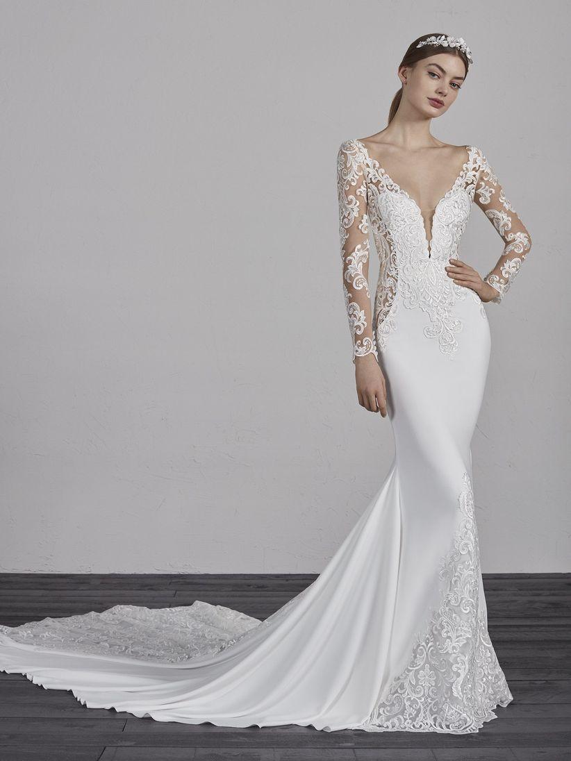 ec029166b 110 vestidos de novia con encaje que te enamorarán