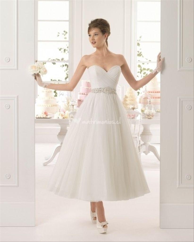 Vestidos de novia de largo midi