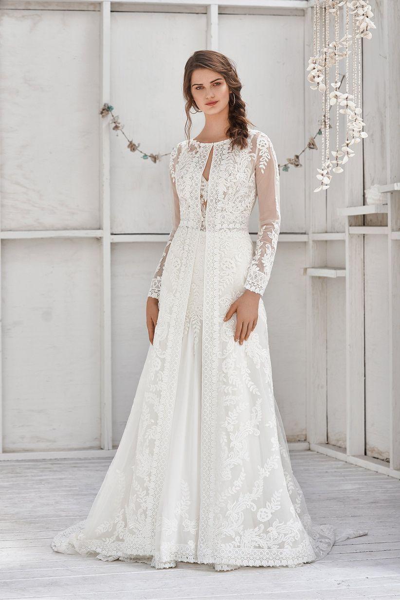5d67f39a 110 vestidos de novia con encaje que te enamorarán