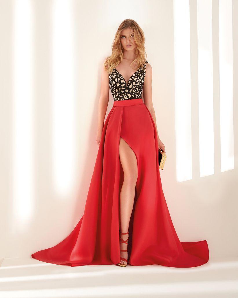 be34dabfa El color inunda los vestidos de fiesta de Hannibal Laguna Atelier 2019