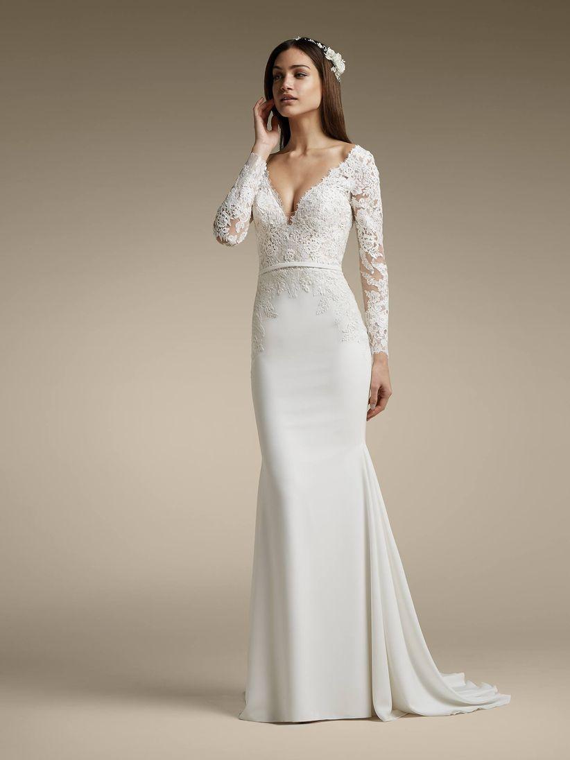 40a56f58d 110 vestidos de novia con encaje que te enamorarán