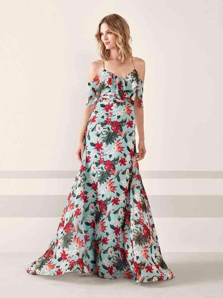 detalles para múltiples colores precio barato El color irrumpe con fuerza en los vestidos de fiesta 2019 de ...