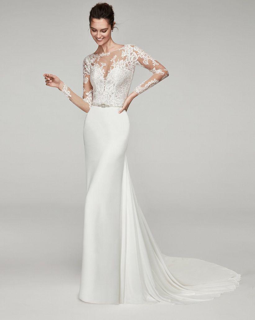 ae4f2a3ef 110 vestidos de novia con encaje que te enamorarán