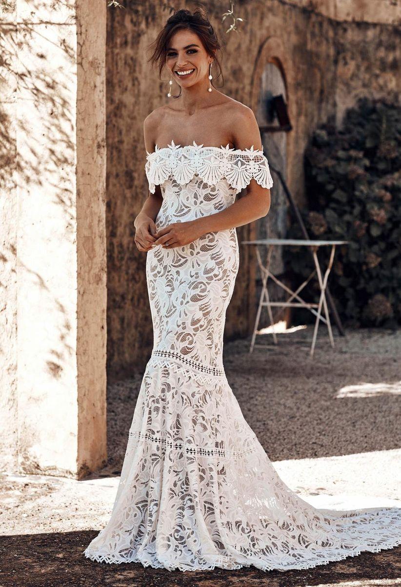 a5a68e072 110 vestidos de novia con encaje que te enamorarán