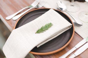 Decoración minimalista para un matrimonio sencillo y elegante