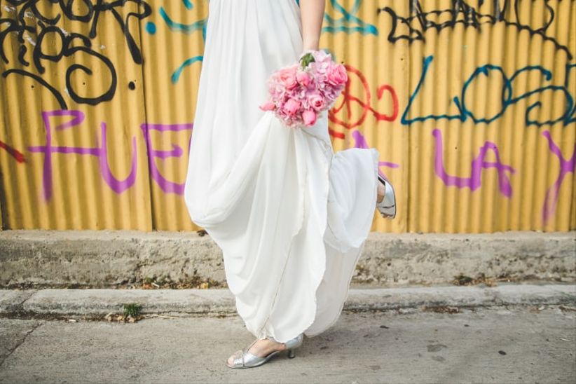 qué zapatos de novia usar si te casas al aire libre?