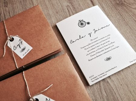 13 ideas para los sobres de los partes de matrimonio