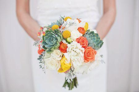 Ramos de novia con mucho color