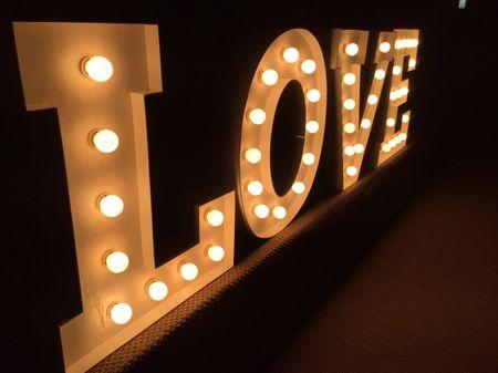 Letras para la decoración de tu matrimonio