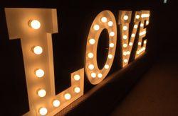 Letras para la decoraci�n de tu matrimonio